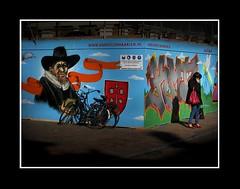 Stadsgezichten / Townfaces (Theo Kelderman) Tags: street holland haarlem netherlands graffiti nederland posters vrouw straat mensen stadsgezichten 2011 theokeldermanphotography townfaces