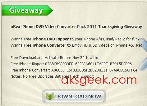 uRex iPhone DVD Video Converter pack 2011