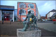Dylan Thomas - Welsh Poet - Children In Need (Crowbuster) Tags: bear park charity wood dylan west statue swansea wales bronze children photo milk image thomas south under cymru picture photograph bbc views poet need writer welsh pudsey wfc in abertawe smq walescymru cwmdonkin crowbuster