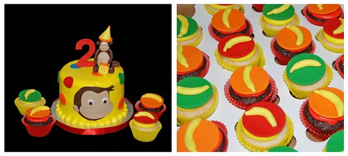 2nd Birthday Monkey Cupcake Tower