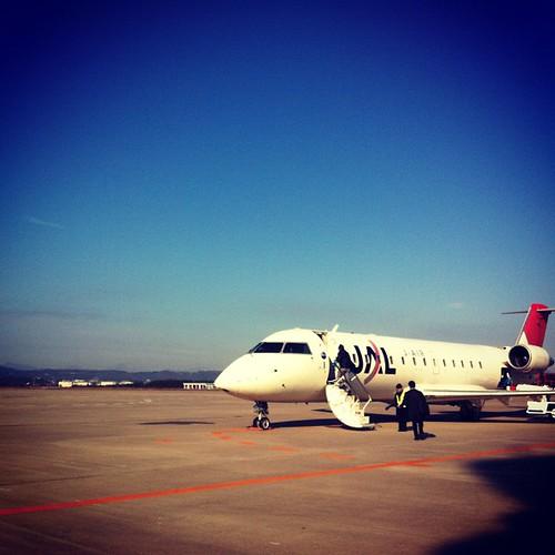 ちっちゃいかわいい飛行機で札幌へ!