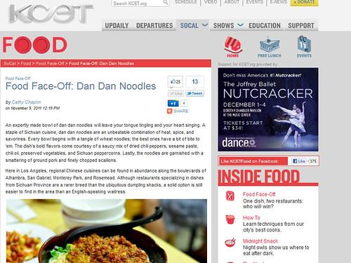 Food Face-Off Dan Dan Noodles  Food Face-Off  Food  KCET
