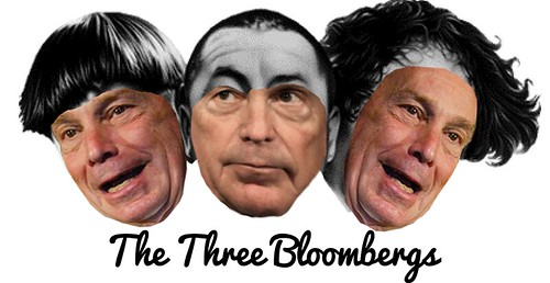 THE THREE BLOOMBERGS by Colonel Flick