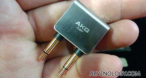 Flight adaptor so you can use the K3003 in a commercial jet
