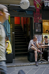 The Lustre Lounge (Fancy Red Shoes) Tags: melbourne laneways centreplace x100 stairwayto