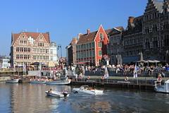 graslei Ghent (VISITFLANDERS) Tags: boat europe belgium ghent flanders artcity visitflanders