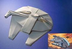 Millennium Falcon origami large scale (Matayado-titi) Tags: starwars origami millenium millennium falcon spaceship sugamata matayado