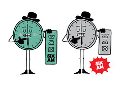 Six AM Character (lgnore) Tags: clock illustration design am character wash six vector instruction ignore
