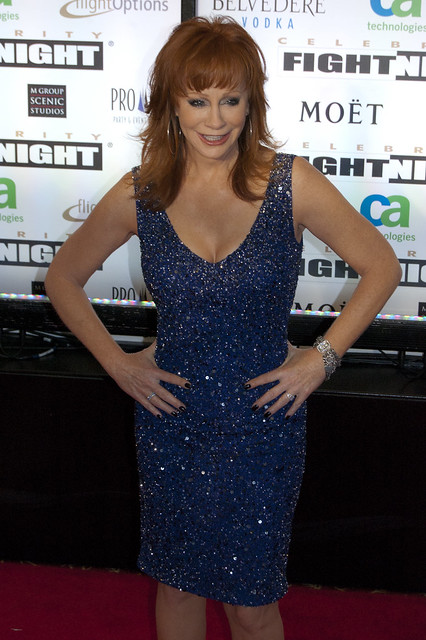 REBA MCENTIRE, emcee of Celebrity Fight Night