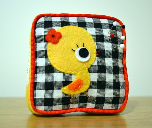 'Sew chick' pin cushion