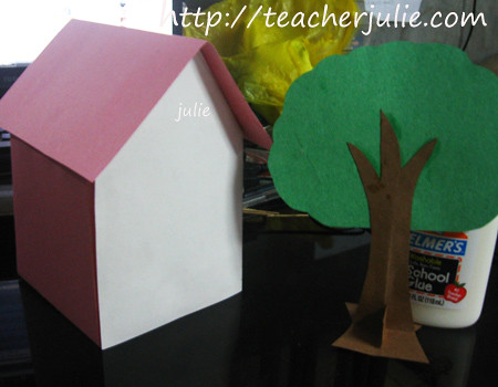 Paper house and Paper tree