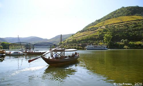 Barcos en Pinhão (Alijó, Portugal)