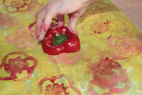 Printing with a bell pepper