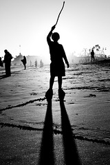 Long Division (Thomas Hawk) Tags: bw usa santacruz beach silhouette unitedstates 10 unitedstatesofamerica william fav20 fav30 califorina santacruzboardwalk santacruzcounty santacruzbeachboardwalk fav10 fav25 fav40 superfave natureshand