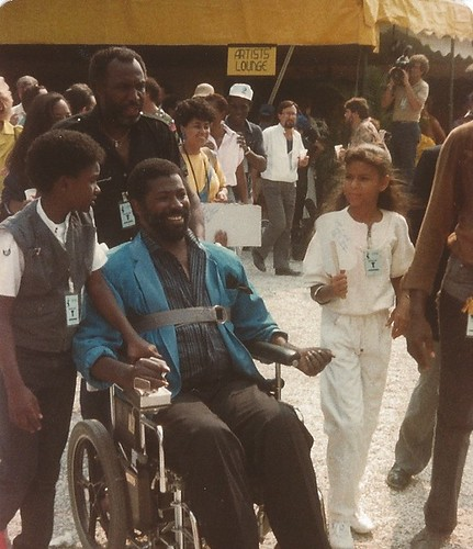 Backstage at Live Aid - Teddy Pendergrass