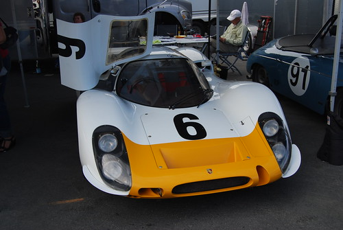 Yellow-nose Porsche 907 or 908 #6. I should have asked. From front.