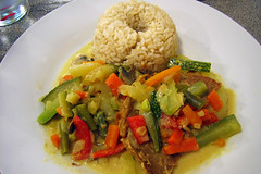 Rice and veges
