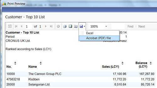 Customer Top 10 List - Click Save - Acrobat (PDF)