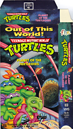 "Family Home Entertainment - 'Out of This World!' - ""Teenage Mutant Ninja Turtles"" -  PLANET OF THE TURTLOIDS // VHS i (( 1993 ))"
