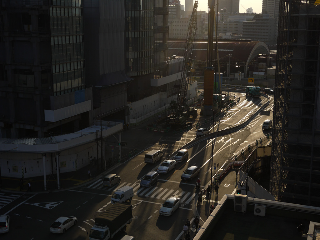 a scene of the north area at Umeda, Osaka