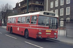 London Transport . MS4 PGC204L . Bromley-by-Bow , Seven Stars . April-1974 . (AndrewHA's) Tags: bus scania londonbus londontransport bromleybybow claptonpond ms4 routes2 metroscania br111mh metcamm pgc204l