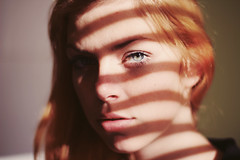 (Noukka Signe) Tags: portrait sun sunlight eye girl lines shadows sharp shade signe linear noukka