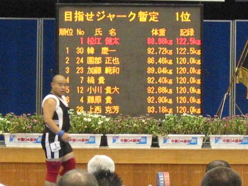2004島根総体における松江健太選手の試技