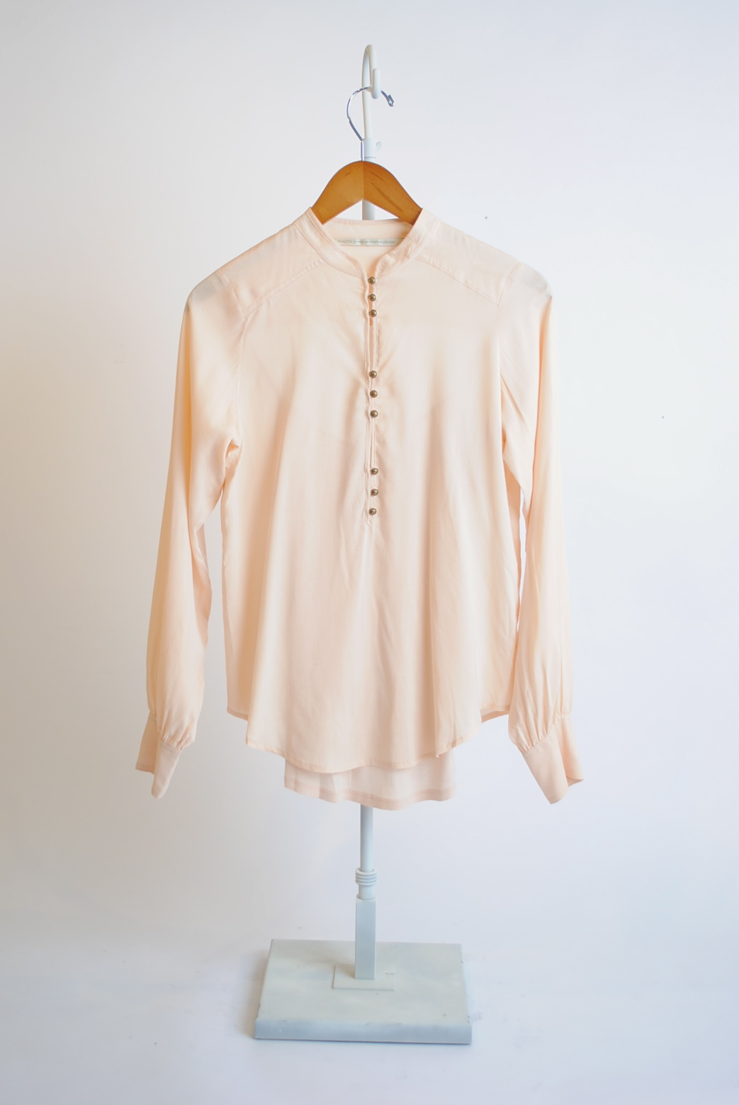 Henley Long-Sleeve Blouse
