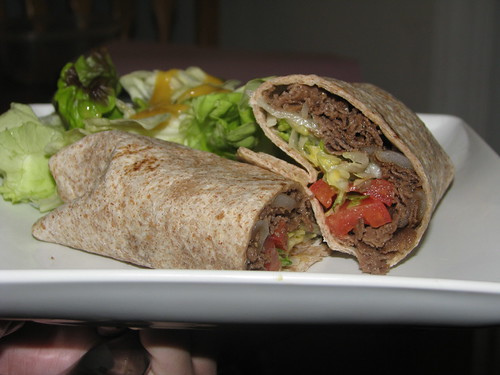 SteakUm Wraps and Salad