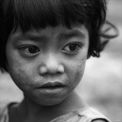 No happy childhood (-clicking-) Tags: portrait blackandwhite bw monochrome childhood children square blackwhite eyes asia child faces innocent poor streetphotography streetlife vietnam squareformat innocence visage nocolors hardlife 500x500 bestportraitsaoi elitegalleryaoi