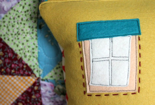 Felt House Pillow