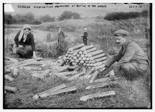 Alemán municiones abandonadas en la Batalla del Marne, 29/10/14 (LOC) de la Biblioteca del Congreso