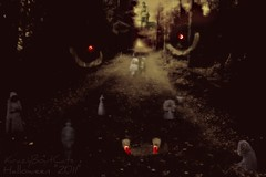 Haunted Trail... (KrazyBoutCats) Tags: cats halloween trails ghosts fangs vampires hauntedtrails halloweencats
