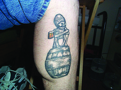 DG leg tattoo (Rogue Ales) Tags: tattoo ink rogue rogueales deadguy roguebrewery beertattoos