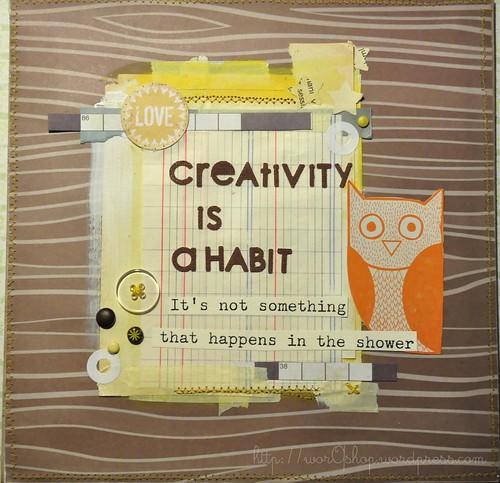 creativity is a habit by worqshop