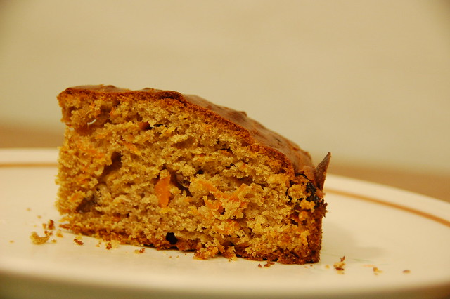 Piece of Carrot Cake on Plate