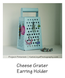 my cheese grater earring holder
