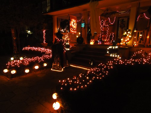 Massive Halloween light display