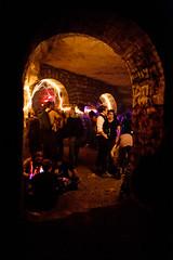 "Soire ""Halloween"" organise dans les carrires souterraines de Paris. (www.pierremorel.net) Tags: paris france underground culture galerie terre capitale fte fra alternatif catacombes catacombesdeparis carriresdeparis siterenomm"