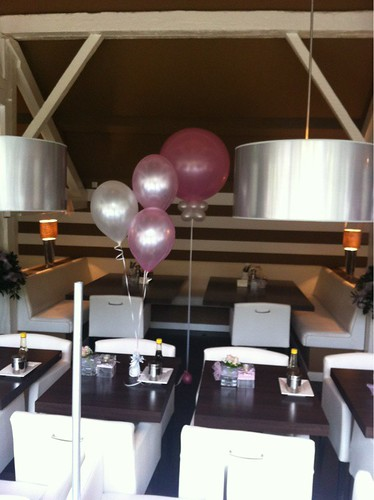 Tafeldecoratie 3ballonnen Babyshower Strooppannenkoeken
