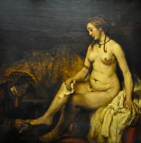 Rembrandt van Rijn - Bethsabee wtih King David's Letter, 1654 at Louvre Museum Paris France