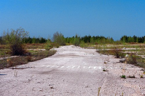 a crosswalk to nowhere in what was Pine Point (by banga on