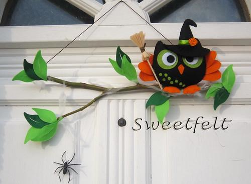 ♥♥♥ Eu a Corubruxinha desejamos-vos um Happy Halloween !!!! by sweetfelt \ ideias em feltro