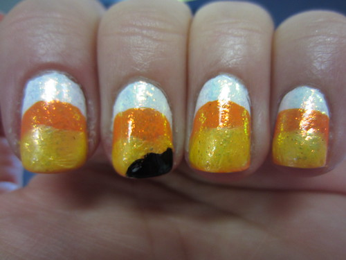 Candy Corn manicure