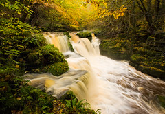 Golden Falls (GaryHowells) Tags: autumn wales waterfalls torrent clydachfalls