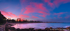 Sunset at Manly Beach, Manly, Sydney, NSW, Australia (ILYA GENKIN / GENKIN.ORG) Tags: ocean morning travel sunset sea sky panorama beach nature water beauty rock night sunrise landscape outside flow dawn evening coast seaside twilight sand marine rocks surf exterior view pacific outdoor dusk ripple tide manly shoreline sydney australian scenic dramatic wave australia scene panoramic coastal shore nsw beaches newsouthwales water