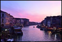 Canal serale (Ludovica Lanzafami) Tags: pink venice sunset sky tramonto rosa cielo romantic venezia rialto veneto d7000