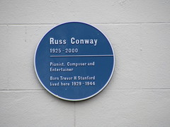 Photo of Russ Conway blue plaque