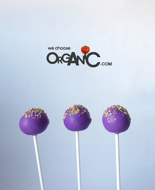 Festive Gold & Violet Party Cake Pops, Cupcake Pops and Cake Bites