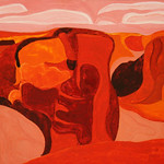 "<b>Antelope Rim, Canyon del Muerto No. IV</b><br/> Hampton (LC '80) (Gouache on panel, 2009)<a href=""//farm7.static.flickr.com/6232/6312122169_52c4945d9f_o.jpg"" title=""High res"">∝</a>"